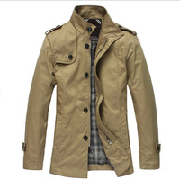 2014 Casual Autumn Man Solid Jacket Black White Thin Long Jaqueta Masculina Male Casacos Outdoors Clothing For Men