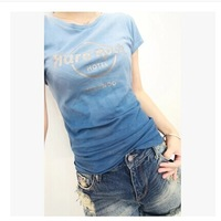 2014 New Hard Rock 100% Cotton O-neck Short Sleeve Women Lady's Girl's T-shirt hardrock Plus Size XS--XL Free Shipping