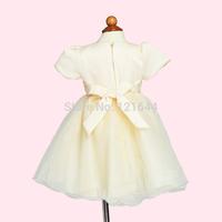 2014 New Free shipping Girls Cake Dress Fashion Bow Princess dress Boutique Wholesale WholesaleFlower girl wedding dress