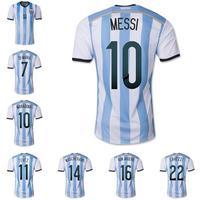 14 Brazil World Cup Men/Women MESSI 10 Jersey Kit Argentina Jersey TEVEZ Aguero Higuain Di Maria LAVEZZI Argentina Shirt+Shorts