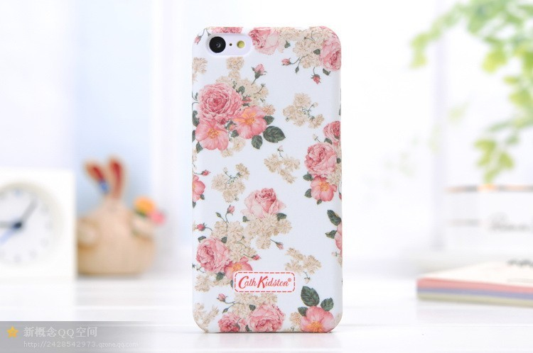 New 2014 Fashion Luminous Hard Back Cover Case for Apple iPhone 5C Ultrathin Small Floral Print Style for Girls Brand Original(China (Mainland))
