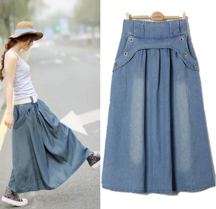Как сшить юбку и с джинсами 154