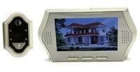 "Free Shipping!4.3"" Screen Wide Lens Door Peephole Viewer Camera DVR IR Motion Detection Doorbell Golden"
