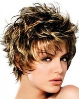 Hot Sale Noble Short Curly Capless Synthetic Hair Wig 10pcs/lot free shipping mix order