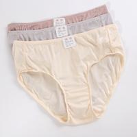 New Arrival Super Soft Comfortable 100% silk panties  knitted pure silk briefs mid waist women M L XL 3pieces