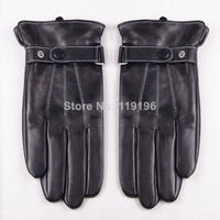 Free shipping, 2014, New arrivals Cool British Style Men's Winter Sheepskin Genuine Leather Gloves With Free Shipping
