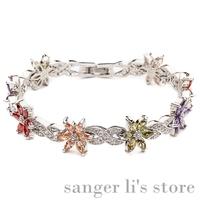 G-007 2014 Hot Selling Korea Jewelry Alloy Jewelry Azorite Bracelet Crystal Bangle Free Shipping