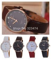 New Fashion Women's best quality PU leather band Wrist Watch woman Girls Luxury Dress watches