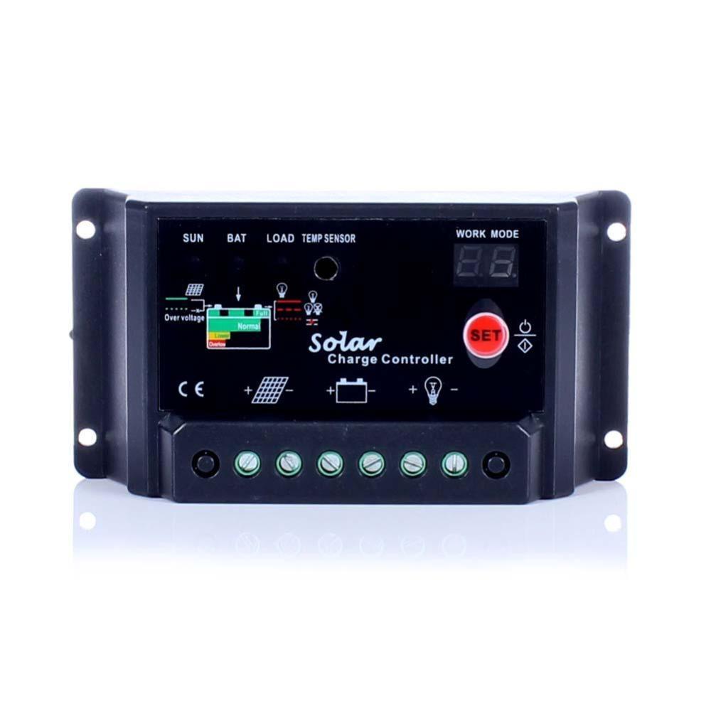 24V Solar Panel battery charge controller 20A amp 12V Solar PV system Black #001(China (Mainland))