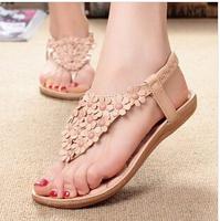 2014 New Retail Flip-Flop Sandals Women Shoes Sapatos Femininos  Plus Size 35-39 Flat Shoes Wear On Summer