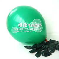 10 inch,standard balloon blackish green wedding 100