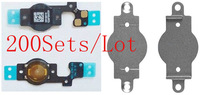 (200Sets/Lot DHL EMS Free)100% Top Quality Guarantee for iPhone 5C Flex Cable&Metal Cushion Holder