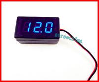 """0.4""""  DC 1.7V TO 25V DC  LED Voltage Panel Meter Blue LED Digital  Display Voltmeter For Car  5pcs/lot"""