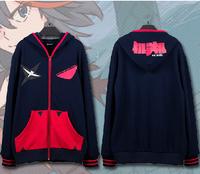 High quality kill la kill anime Sweatshirt jacket hoodie zipper unisex coat