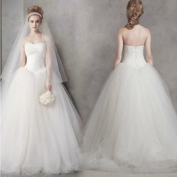 свадебное платье 2014 мода Slim Sexy Кружева Bra хвост свадебный обычай свадебные Платье де Noiva свадебные платья
