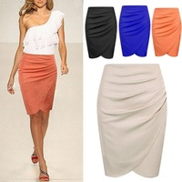 2014 Free Shipping New Fashion Womens' Business Suit Pencil Skirt Summer OL Skirts For Women Knee Length Step skirt