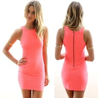 Ultra hot 2014 Summer Autumn Casual Bodycon Mini Dress Desigual Style Soft-feel and Soft Waves Women Dress Free Shopping