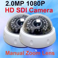 HD SDI 1080P CCTV Camera indoor infrared Dome Camera Varifocal Lens 2.8-12mm Surveillance camera