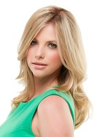 Super Soft Long Wavy Blonde with Dark Roots Synthetic Hair wig 10pcs/lot free shipping mix order