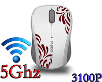 1XAAA Battery 5GHz Office Mouse Wireless Optical Portable Gaming Mice Wifi For Desktop Laptop Computer 3100P White Free Shipping
