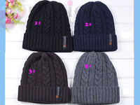2014 New  Winter Cap Hot Sale Gorro Knitted Warm Beanie Fashion Casual Sport Hats For Men Bone10pcs/lot