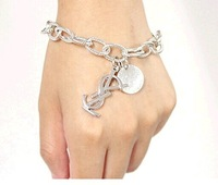 Wholesale Fashion Women Girls Chains Bracelet Letters Charm Hand Chain Jewelry 5PCS
