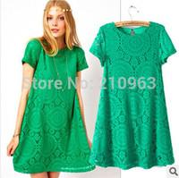 2014 summer women's sexy &fashion Kaleidoscope Lace  Casual expansion  dress  Free shipping