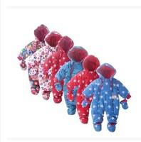 Hot 2014 new autumn and winter European design baby boys & girls fancy romper infant newborn fleece one-pieces suit 6colors