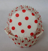 300 pcs polka dots paper cupcake liners tool sandwich cutter bread macaron packaging for birthday party