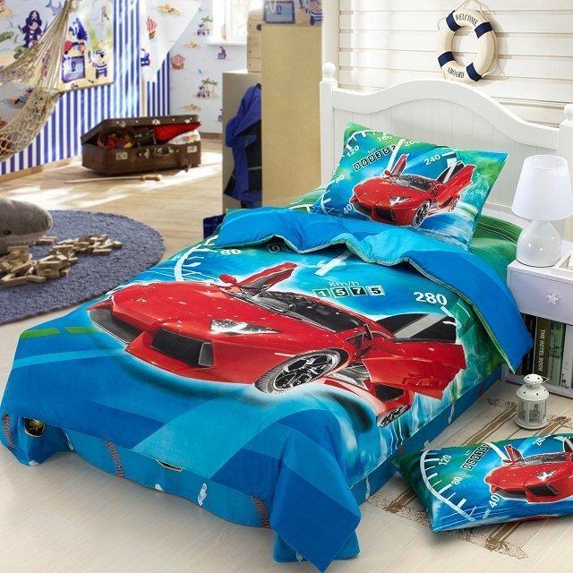 kinderen jongens cartoon baby beddengoed set kinderen twin size sprei ...