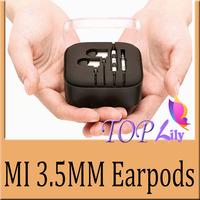 1Pcs!! 2014 Headphones Handsfree Earpods+Volume Control Mic Earphone Headset For Xiaomi Piston MI 2 MI2S MI2A Samsung Galaxy HTC