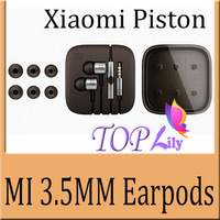 5Pcs/Lot! Piston Wired Earphones Headphones Headset With Remote Control&Microphone For Samsung HTC Xiaomi MI2 MI2S MI2A Mi1S M1