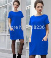 New autumn winter warm woolen women dress short-sleeve large plus size tunic sweater dress for woman