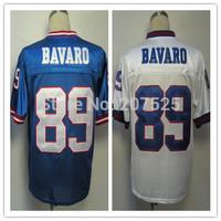 New York 89 Mark Bavaro Throwback Jersey Rugby Shirts, Retro American Football Jerseys Men Sportswear BAVARO Rugby Jersey