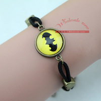 Free shipping 20pcs/lot vintage style batman bracelet,Unique DIY Jewelry,Best Gift