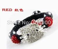 NEW Item  Mix Colors Free Shipping Shamballa Bracelet  Crystal Kids Child Girl Boys Festival gift Crystal Disco Ball