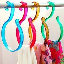 Free shipping Plastic S Hooks Scarf Tie Storage Hanging Hanger Rack Clothes Storage Holder Z435(China (Mainland))