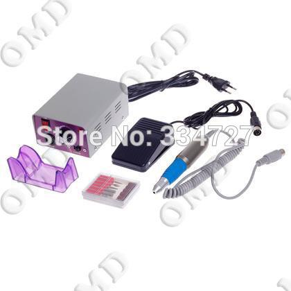 Nail tools - 25000 RMP Manicure Pedicure set nail decoration electric Nail Drill Machine Kit (US or EU Plug)(China (Mainland))