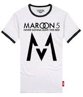 Shake MAROON5 fashion cotton lovers rock t-shirt men's and women's T-shirt