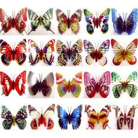 12pcs Cute Luminescent Butterfly Magnetic Sticker For Fridge Wall Car Decoration