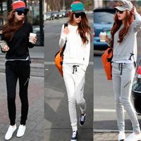 2014 autumn sweatshirt female set thin women's long sleeve length pants casual sportswear set