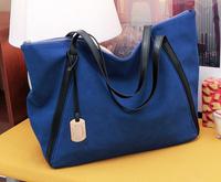 2014 Autumn Eruopean and American Style Desigual Bag Faux Suede Women Handbag Big bags large capacity Tote Shoulder bag Bule