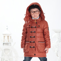 Boy's Winter clothing jacket Brand children's coat Boy Ski suit outdoor sports parkas High quality windproof Down denim blue red
