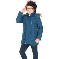 Autumn & Winter Boys Jackets 2014 Fashion Kids Coat Size 140-160 fur winter parkas children Hooded Warm Clothing Free Shipping
