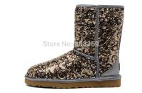 int'l Brand 100% australia sheepskin real wool  Women Classic Short Sparkles 1003353 woman winter warm 3353 snow boot