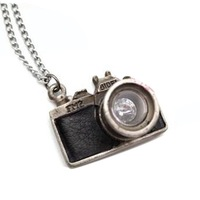 Women Retro Fashion Vintage Camera Shaped Pendant Necklace Sweater Chain #D2