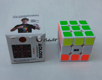 5.45cm Moyu Aolong 3x3 Speed cube for Speedcubing Competition White/black Base CS PVC sticker free shipping