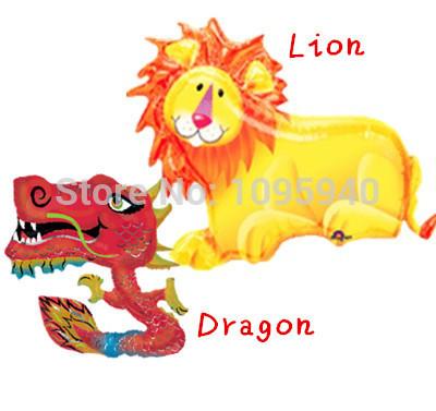 Chinês do dragão e leão foil balões de festa(China (Mainland))