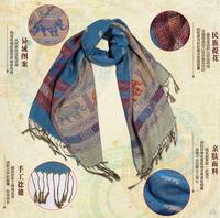 Free Shipping 2014 New Fashion Women's Pashmina cape Scarf winter Wrap Elephant printing shawl Pashmina tassels scarves 70*175cm