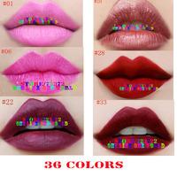 1000pcs DHL free shipping matte lipstick 36 colors velvet high quality lipsticks waterproof lip gloss room colors big discount